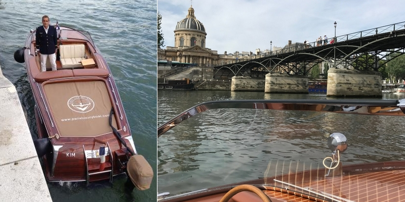 Romantic cruise on the Seine river