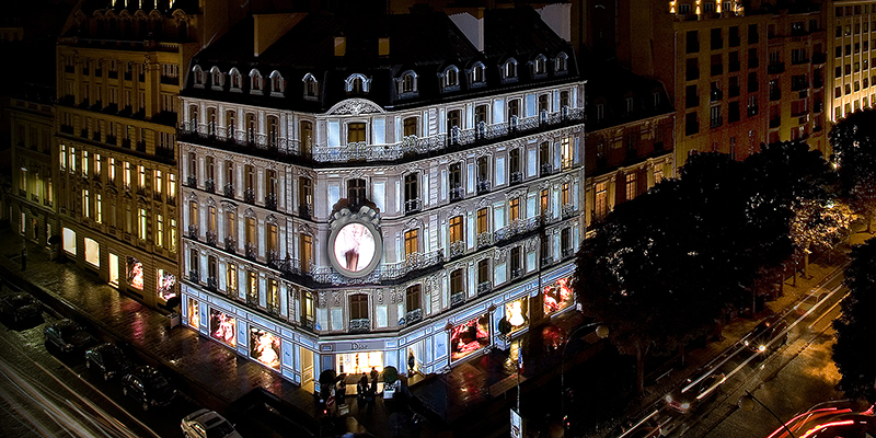 Avenue Montaigne boutiques such as Chanel, Dior and Versace.
