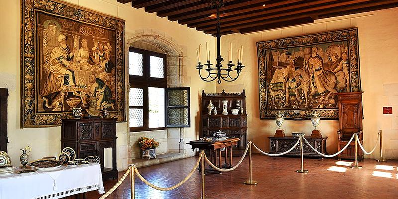 Inside the Amboise castle