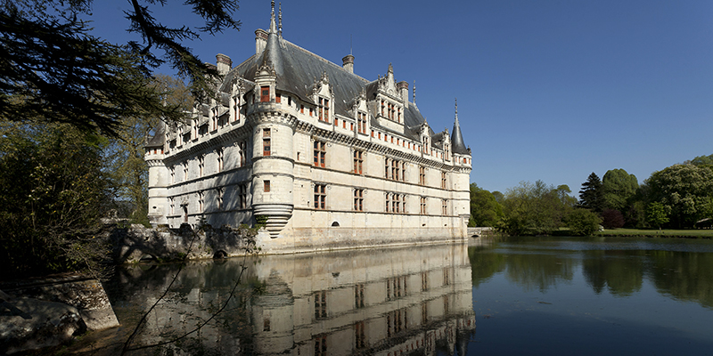 Azay-le-Rideau Castle in Loire valley