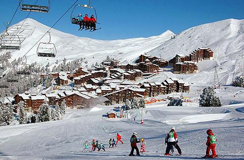 La Plagne town and slopes