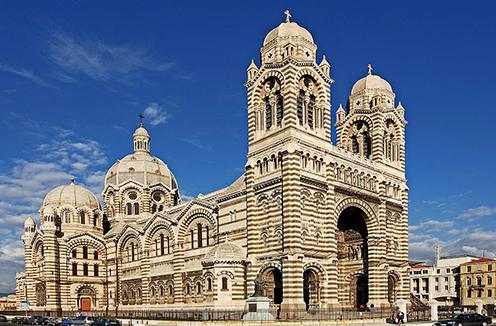 The 19th-century Romano-Byzantine basilica in Marseille