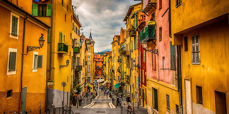 Strolling through the ochre colored streets of Nice