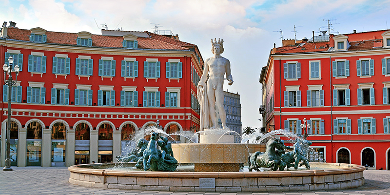 Fontaine du soleil in Nice