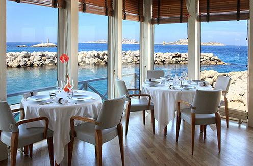 Magnificent views at restaurant L'Épuisette Marseille