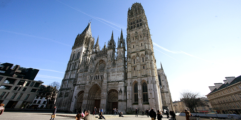Rouen is known for its Rouen Cathedral.