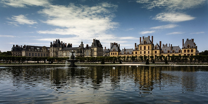The Palace of Fontainebleau.